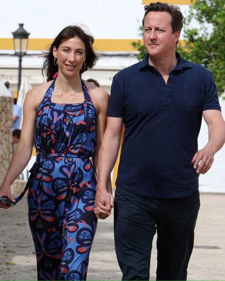 David Cameron And Samantha Cameron Holiday In Ibiza
