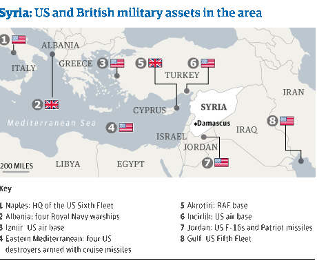 Syria - US/British military assets
