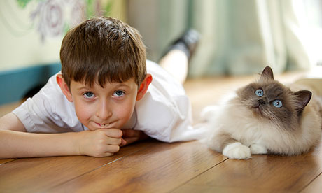 Lorcan Dillon with his cat