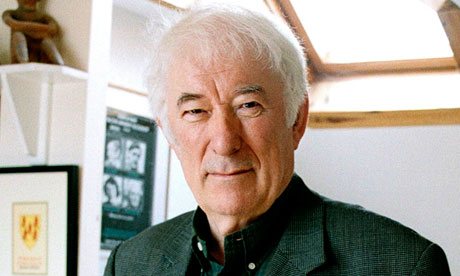 Seamus Heaney at home in Dublin