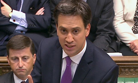 Ed Miliband, Labour leader, speaks during the Syria debate