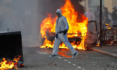 Riots in north London