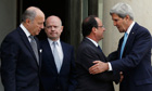 UK, US and France call for 'strong' UN resolution on Syria
