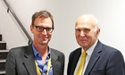 Tim Dowling poses with Vince Cable in the hope it will discourage the business secretary from furthe