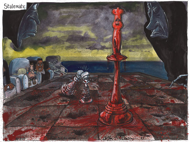 Martin Rowson cartoon 21.09.13