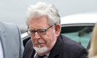 Rolf Harris arrives at Westminster magistrates court in London