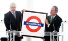 Boris Johnson And Michael Bloomberg launch Mayors Challenge