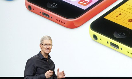 'Hapless' Apple chief executive Tim Cook launches the new iPhone, but neglects to mention multi-path