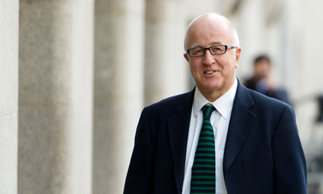 Denis MacShane arrives at the Old Bailey to face fraud charges.