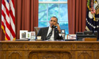 Barack Obama on the phone to Hassan Rouhani