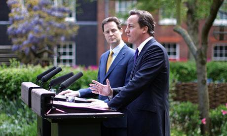 Britain's new Prime Minister David Camer