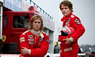 Chris Hemsworth as James Hunt and Daniel Brühl as Niki Lauda in Rush