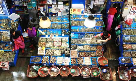 A fish market in Seoul