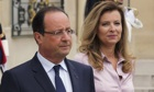President Hollande and France's first lady Valerie Trierweiler
