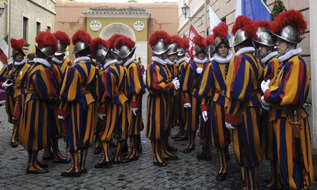 Claims have been made of a 'gay network' among some Vatican priests and Swiss Guards.