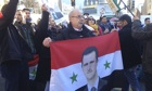 Pro-Assad protesters in Montreux