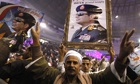 Supporters of Egypt's army chief Sisi h