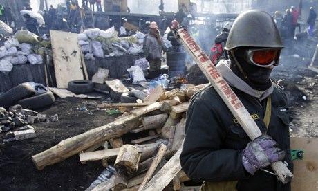 Ukraine protester