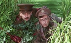 Rowan Atkinson as Blackadder and Tony Robinson as Baldrick in Blackadder Goes Forth, 1989.