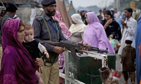Pakistani police at saint's shrine