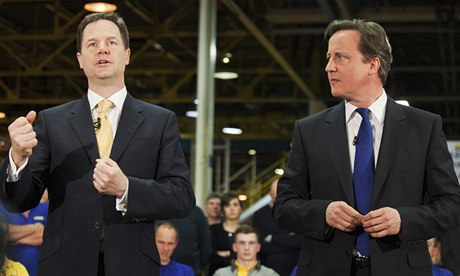 Nick Cleeg and David Cameron (