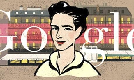 Simone de Beauvoir google doodle
