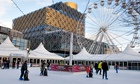 Birmingham's new public library is the backdrop for an ice rink and big wheel in Centenary Square