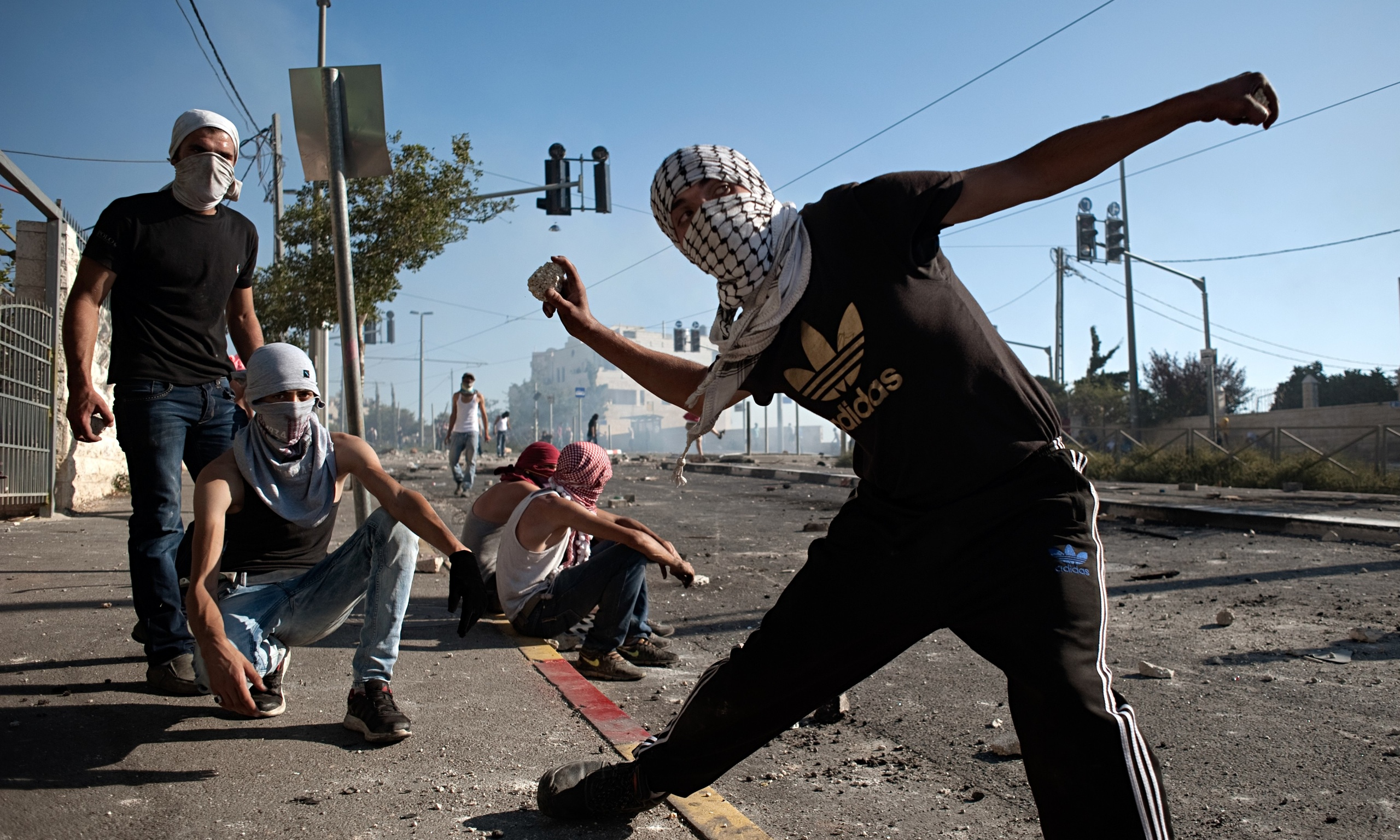 Hand Throwing Stone : Palestinian stone throwers could face years in jail