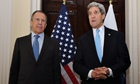 Russian foreign minister, Sergei Lavrov, and US secretary of state, John Kerry