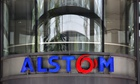 Alstom logo in front of its HQ
