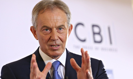 Tony Blair addresses the CBI on the future of Europe at the London Business School