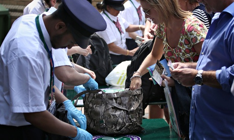 Bags being searched during day two of the Wimbledon championships