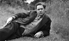 Dylan Thomas in a field