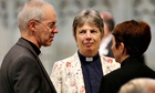 Archbishop of Canterbury Justin Welby with members of the female clergy at York Minster.