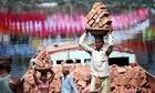 Labourers in Dhaka, Bangladesh