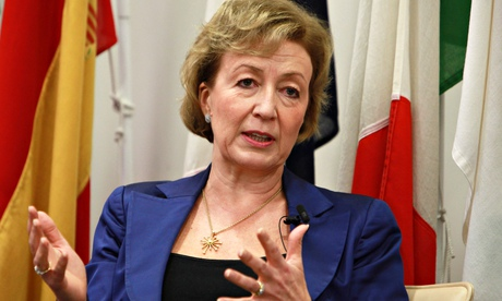 Andrea Leadsom in close up