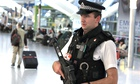 Armed police officer, Heathrow Terminal 5