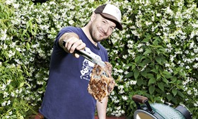 Neil Rankin wields the tongs to test barbeques