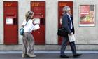 Royal Mail post boxes set into a wall