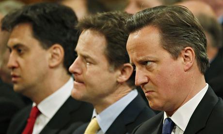 David Cameron (right)