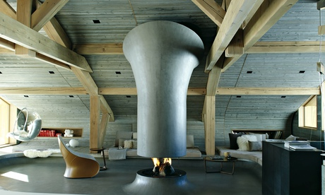Homes: inside a futuristic ski chalet