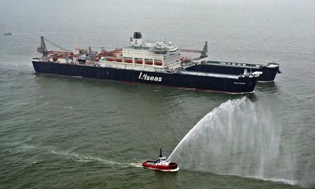 Pieter Schelte arrives at Rotterdam port