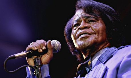 James Brown with microphone