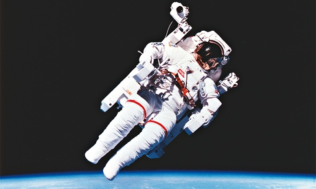That's me in the picture: Bruce McCandless, 47, in the world's first untethered space flight, February 1984