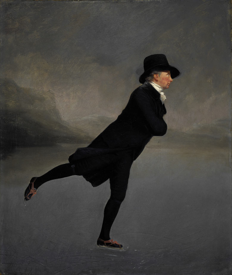 Henry Raeburn's The Reverend Dr Robert Walker Skating on Duddingston Loch, about 1795