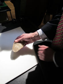 quartz hand axe British Museum