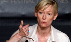 Tilda Swinton at Cannes film festival 2011