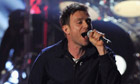 Damon Albarn of Blur at the Brit awards 2012