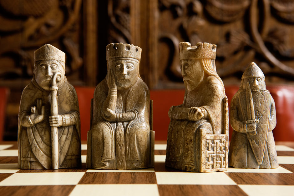Wizards and warriors the lewis chessmen who inspired harry potter art and design the guardian - Lewis chessmen set ...