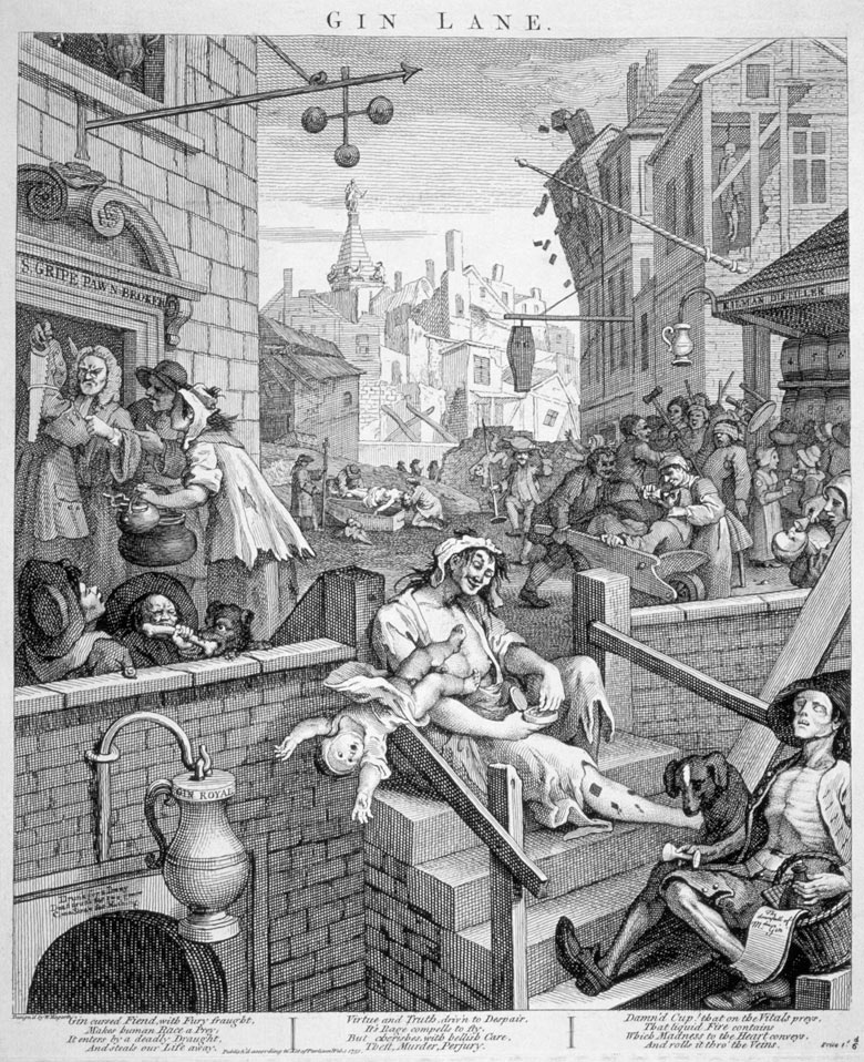 Gin Lane by William Hogarth
